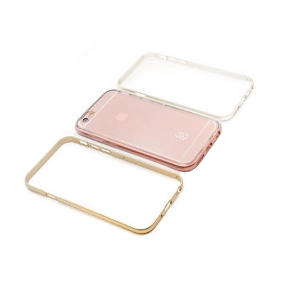 CS-ΘΗΚΗ BUMPER 3IN1 CRYSTAL BUMPER FOR IPHONE 6/6S PINK GOLD
