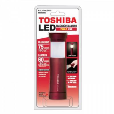 TOSHIBA 2-way LED TORCH KFL-403L(R) C BP red