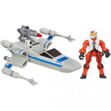 HASBRO HERO MASHERS STAR WARS THE FORCE AWAKENS - RESISTANCE X-WING &RESISTANCE PILOT (B3702)