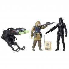 HASBRO STAR WARS ROGUE ONE - IMPERIAL DEATH TROOPER + REBEL COMMANDO PAO SET OF 2 FIGURES DELUXE (10cm) (B7259)