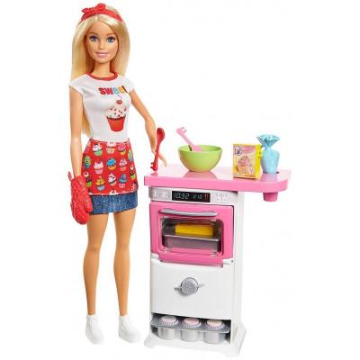 Mattel Barbie Doll - Baker Playset (FHP57)