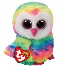 TY Beanie Boo - Owen Rainbow Owl (23cm) (1607-37143)