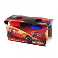 AS Πλαστελίνα Cars - 2 Βαζάκια Πλαστελίνης Dough Pots 228g (1045-03546)