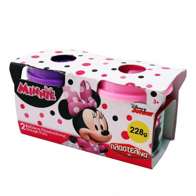 AS Πλαστελίνα Minnie - 2 Βαζάκια Πλαστελίνης Dough Pots 228g (1045-03568)
