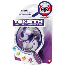 AS Robot Teksta Micro-Pet - White/Purple Kitty (1030-51316)