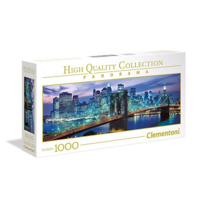 AS Clementoni Puzzle - High Quality Collection Panorama - Brooklyn Bridge (1000pcs) (1220-39434)