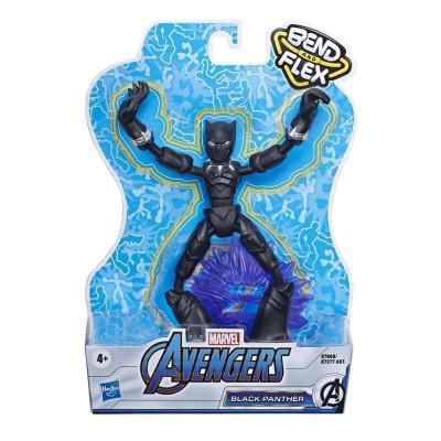 Hasbro Marvel: Avengers Bend and Flex - Black Panther Action Figure (15cm) (E7868)