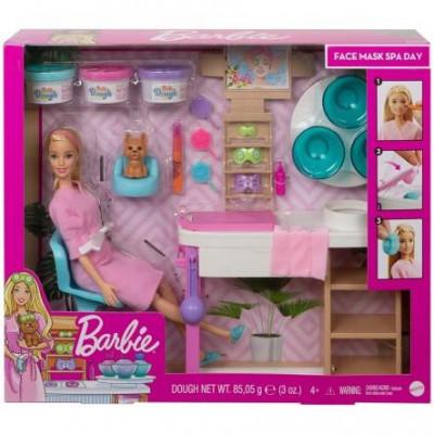 Mattel Barbie - Face Mask Spa Day Playset (GJR84)
