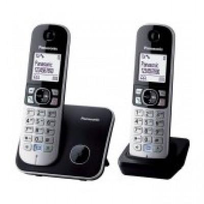 Ασύρματο Ψηφιακό Τηλέφωνο Panasonic KX-TG6812GB Duo Ασημί - Μαύρο με Λειτουργία Eco