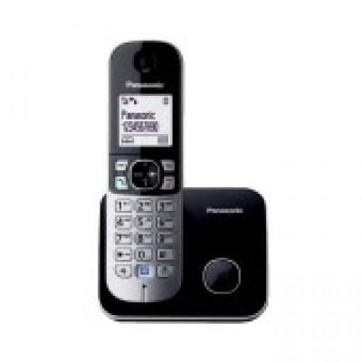 Ασύρματο Ψηφιακό Τηλέφωνο Panasonic KX-TG6811GRB Μαύρο με Λειτουργία Διακοπής Ρεύματος και Λειτουργία ECO