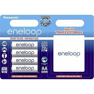 1x4 Panasonic Eneloop Mignon AA 1900 mAh + Battery Case