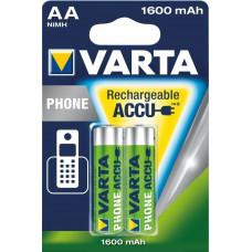 1x2 Varta Professional Accu NiMH 1600 mAh AA Phone Power