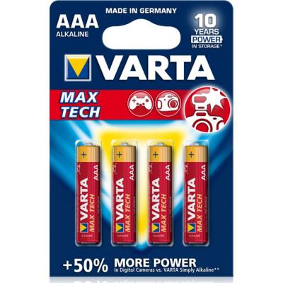 1x4 Varta Max Tech Micro AAA LR 03 German