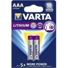 1x2 Varta Lithium Micro AAA LR 03