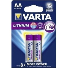 1x2 Varta Lithium Mignon AA LR 6