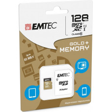 Emtec Gold+ microSDXC 128GB U1 with Adapter