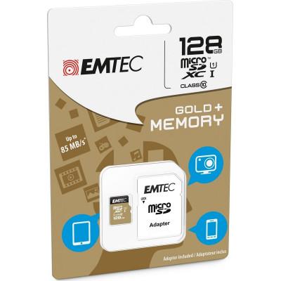 Emtec Gold+ microSDXC 128GB U1 with Adapter