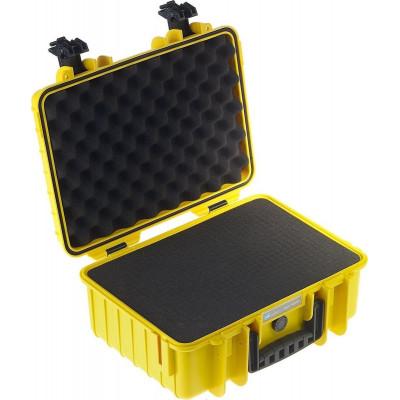 B&W International Type 4000 yellow incl. pre-cut foam