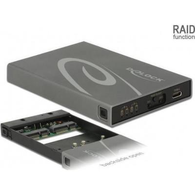 DeLock External Enclosure 2 x mSATA SSD