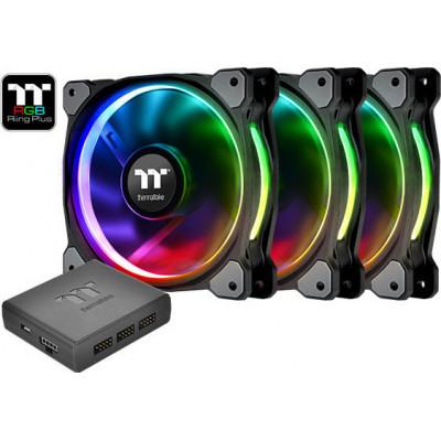 Thermaltake Riing Plus 14 LED RGB Radiator Fan TT Premium Edition (3 Fan Pack) 140mm