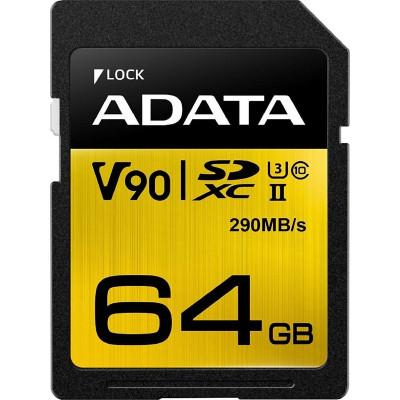 ADATA SDXC UHS-II U3 Class 10 64GB Premier One