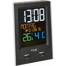 TFA 60.2537.01 Charge IT Funk-Wecker