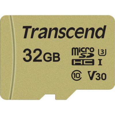 Transcend microSDHC 500S    32GB Class 10 UHS-I U3 V30 + Adapter