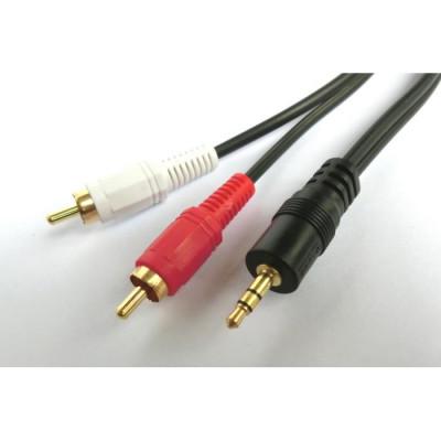 Cable Audio 3.5mm M/2xRCA M 3m Aculine AU-013
