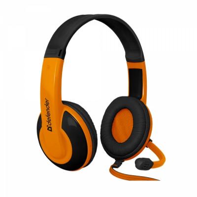 DEFENDER G-120 WARHEAD WIRED HEADSET 2m black orange