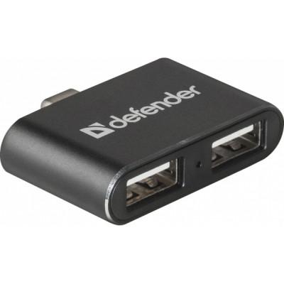 DEFENDER ADAPTER HUB TYPE C 3.1 to 2 USB 2.0