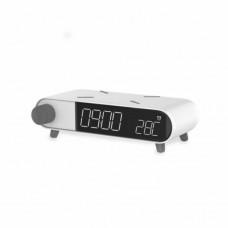 Ksix Qi ALARM CLOCK RETRO WIRELESS CHARGER 10W white