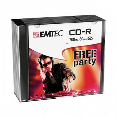 EMTEC CD-R 700MB / 80 MIN 52x SLIM 10pcs SLIM CASE