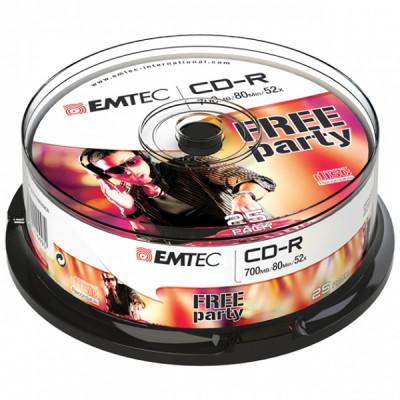 EMTEC CD-R 700MB / 80 MIN 52x SLIM 25pcs CAKE BOX