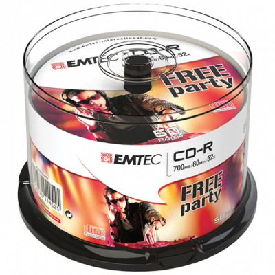 EMTEC CD-R 700MB / 80 MIN 52x SLIM 50pcs CAKE BOX