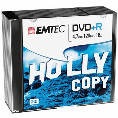 EMTEC DVD+R 4.7GB 16x SLIM 10pcs