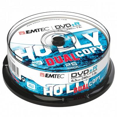 EMTEC DVD+RW 8.5GB 1-8x CAKE BOX 25pcs