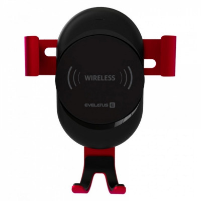 EVELATUS QI CHARGER + 360 UNIVERSAL CAR HOLDER AIR VENT red