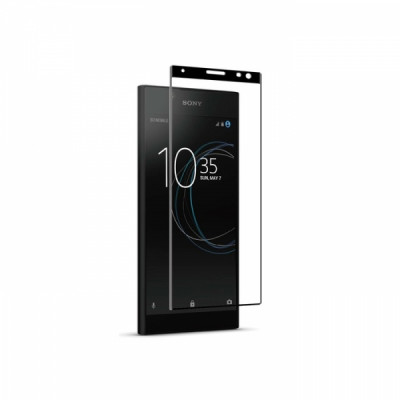 MUVIT FULL FACE MADE FOR SONY XPERIA 10 PLUS + APPLICATOR black tempered glass