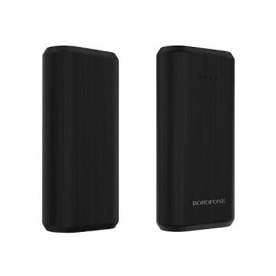 Power Bank Borofone BT2 Fullpower 5200mAh USB 5V/1A Ελαφρύ και με Ένδειξη LED Μαύρο