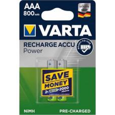 1x2 Varta Rechargeable Accu AAA Ready2Use NiMH 800 mAH Micro