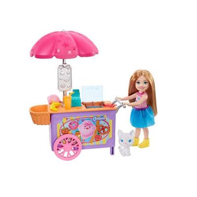 Mattel Barbie Club Chelsea - Chelsea and Snack Cart Playset (GHV76)