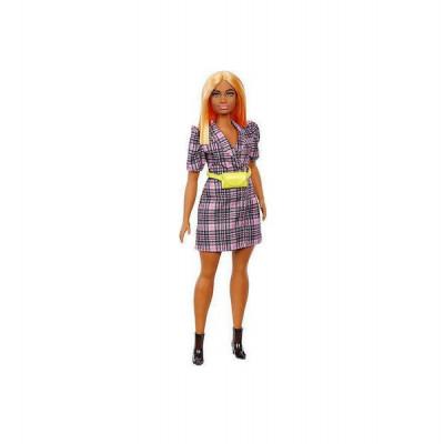Mattel Barbie Doll - Fashionistas #161 - Puff Sleeve Plaid Blazer Dress Curvy Doll (GRB53)