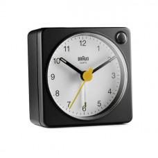 Braun BC 02 XBW quartz alarm white / black with light switch