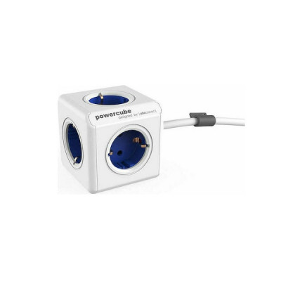 Allocacoc PowerCube Extended Type E power extension 1.5 m Blue