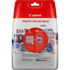 Canon CLI-571 BK/C/M/Y Photo Value Pack (0386C006)