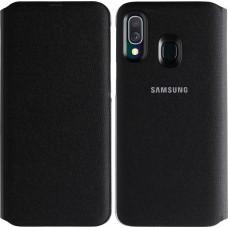 Samsung Wallet Cover Μαύρο (Galaxy A40)