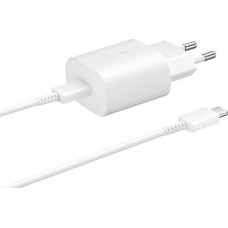 Samsung USB Type-C Cable & Wall Adapter Λευκό (Travel Adapter 25W)