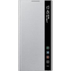 Samsung Clear View Cover Ασημί (Galaxy Note 10)