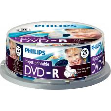 1x25 Philips DVD-R 4,7GB 16x IW SP