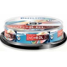 1x10 Philips DVD+R 8,5GB DL 8x SP